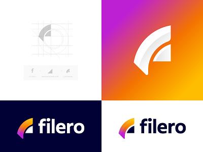 Filero logo design file manager file sharing arrow concept icon design ahmedrumon rumzzline f letter logo letter logo typogaphy colorful gradient logo modern logo icon applogo creative logotype logos logodesignersclub