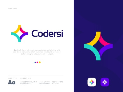 Coding logo - C letter logo design - Codersi logo design data concept identity branding ahmed rumon rumzzline developement code landing page web icon modern logos ui modern logo vector illustration applogo design