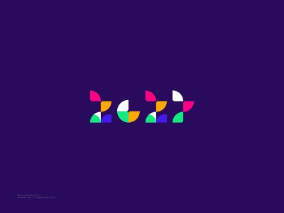 Geometric Logo design - New year Logo 2021 design trends 2021 modern logo designer branding design inspiration monogram symbol vector identity logo ahmed rumon logo and branding happy new year happy new year 2021 geometric logo geometric design modern logo rumzzline logodesign creative branding