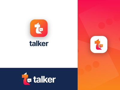 Talk Logo Design  - Chat logo icon - Creative T letter logo brand identity design logotype logo and branding creative talk logo design modern logo design logo transparent vector app icon symbol modern logo t letter logo chat app talks ahmedrumon rumzzline branding