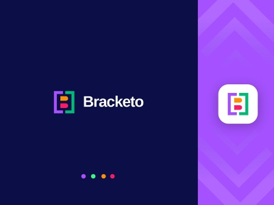 coding logo design  - code editor app icon -  Bracketo flat circle programming transparent symbol log and branding rumzz html coding logo b letter logo ui  ux ahmed rumon applogo logo rumzzline modern logo vector design creative
