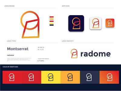 radome logo    R letter logo security system security app mobile app antivirous icon ux ui illustration vector applogo app logos branding logodesignersclub logo