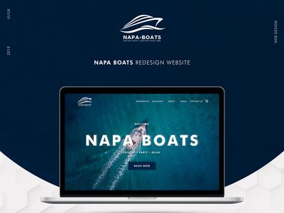 Napa Boats: Redesign Website | UI/UX Design