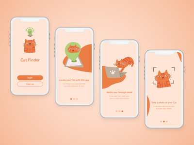 Cat Finder On-boarding UI Application