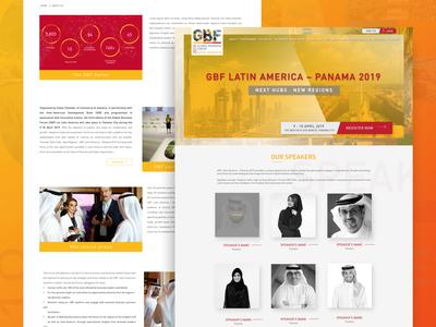 Global Business Forum Website design - Landing page