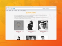 GBF Website Design: Speakers Section