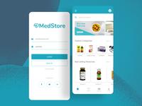 MedStore: Online Medicine Store UI Mobile Design