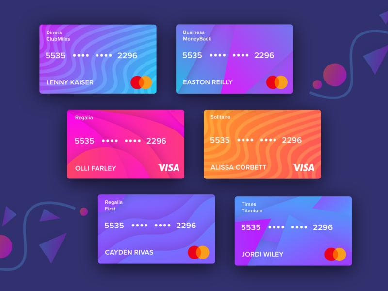 Free UI Kit for Virtual Credit card/ Debit card | Freebie