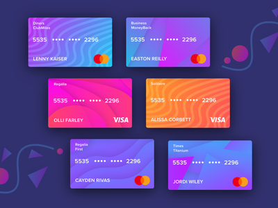 Free UI Kit for Virtual Credit card/ Debit card | Freebie ronak chhatwal vector illustration app free ui kit wallet clean ui payment mobile wallet app bank card gradient color gradients virtual card debit card credit card money finance bank
