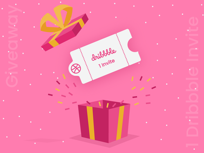 dribbble Invite Giveaway !! freebies debuts debute grab debut giveaway vector illustration ux ui design ticket dribbble invitation dribbble invites dribbble invite