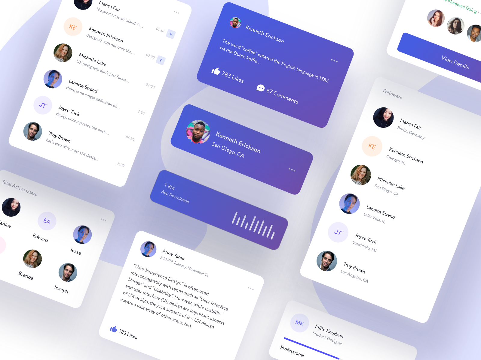 Cards Free UI Kit | Freebie