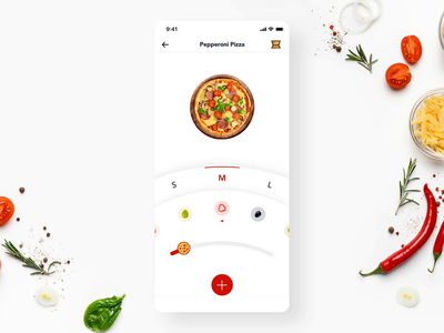 Add Pizza Interaction + Free UI kit free ui kit freebie prototyping prototype interaction design microinteraction food app ui food app design food delivery app food app pizza animation app clean ios design mobile ux ui ronak chhatwal