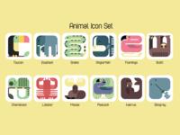 Animal Icons -  Set of 12