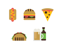 Fast Food and Beer - Icons