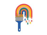 Rainbow Paintbrush