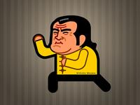 Caricature of Steven Seagal