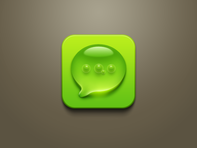 Droplet + air bubbles SMS icon [PSD available] droplet sms icon air bubbles