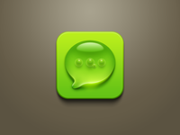 Droplet + air bubbles SMS icon [PSD available]