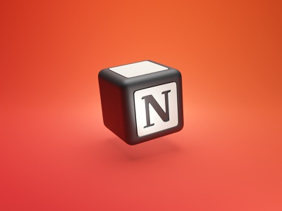 App Icon in 3D - Notion blender notion 3d icon