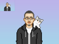 Pixel portrait for friend 2