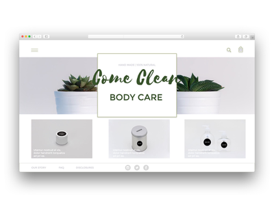 Another home page design concept