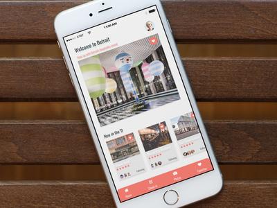 App design for Detroit hot spots