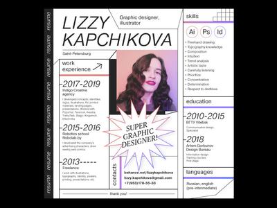 My CV pink girl cv resume cv resume typography vector branding digital 2d illustration design