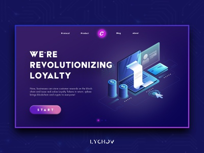 Cryptobot landing page typography website web branding ux ui design