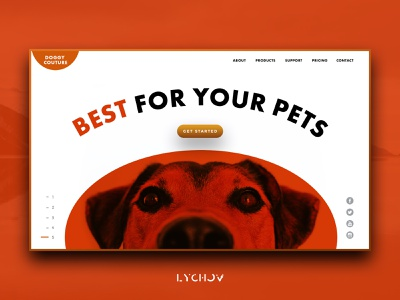 Doggy couture vector flat identity minimal logo typography website web ui ux design landing page branding