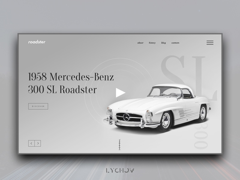 Roadster vector clean type logo minimal typography flat identity website web ux ui branding landing page design