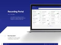 Behance recording portal