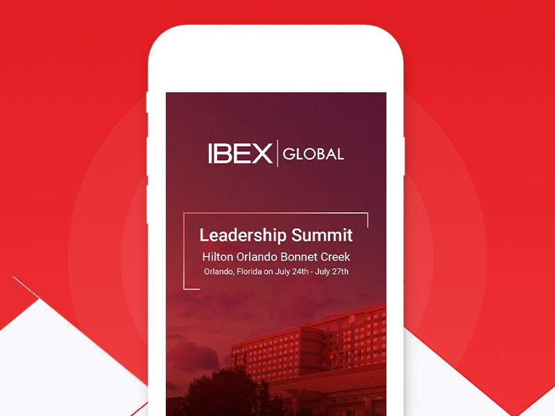 Event App mobile app leadership summit attend chat red design ux ui android ios summit event