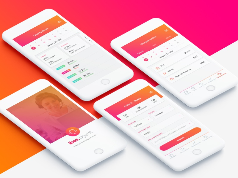 Agent app product design flow ios app modern ui mobile ui ux