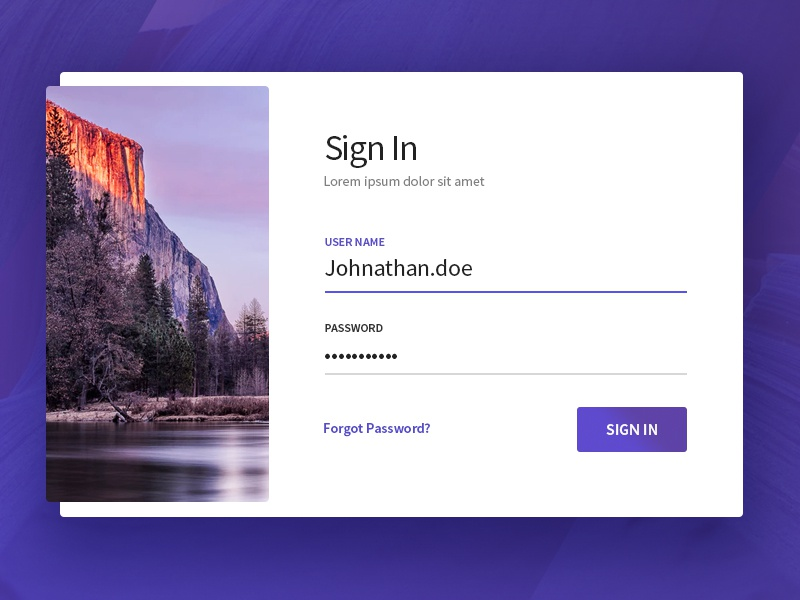 Free Sign In PSD Template freebie freebies landing page login sign in free psd