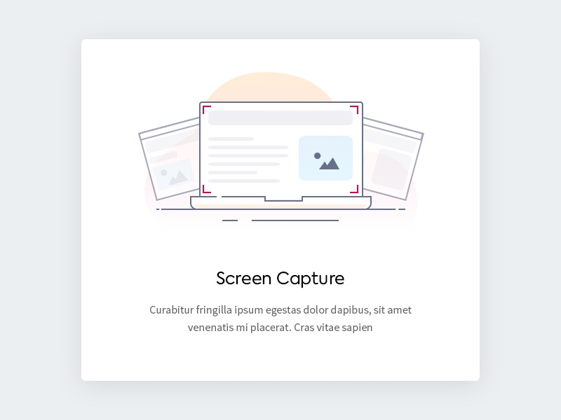 Screen Capture - Illustration onboarding shot screen capture icon line icon clean design ui widget icon illustration