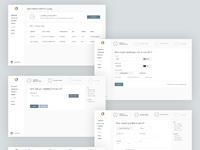 Web app wireframe fullshot