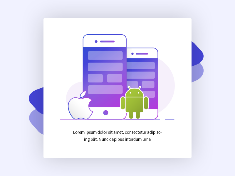 iOS and android Apps mobile apps android ios line icon clean design ui widget icon illustration