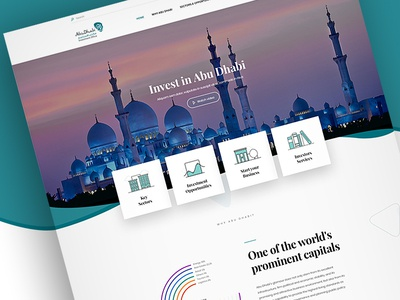 Abu Dhabi Investment Office - landing page