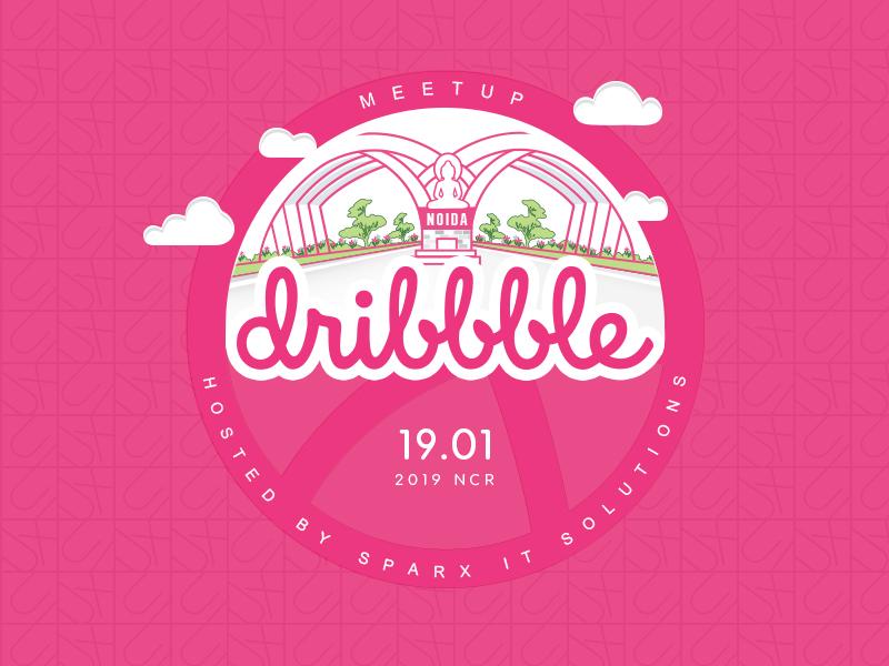 Dribbble Meetup 2019 | Noida | India ux noida web typography ui vector illustration dribble meetup sparx it solutions dribbble design