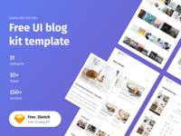 Sketch UI Kit Templates - Freebie
