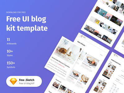 Sketch UI Kit Templates - Freebie responsive bootstrap ux ui symbols free sketch free freebie template blog ui kit sketch