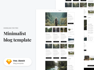 Sketch Minimalist Blog Template - Freebie