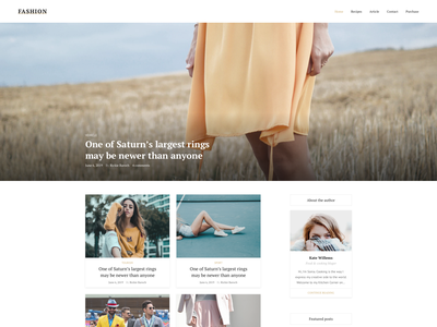 Fashion Blog Template - Freebie photoshop landing page template fashion bootstrap ux ui figma psd blog template sketch responsive blog freebie free sketch free