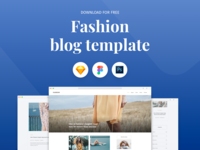 Fashion Blog Template - Freebie