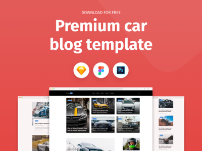 Premium Car Blog Template - Freebie