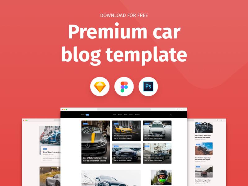 Premium Car Blog Template - Freebie