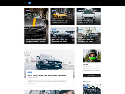 Premium Car Blog Template - Freebie car blog car sketches photoshop figma bootstrap blog template ux ui sketch responsive free sketch freebie free