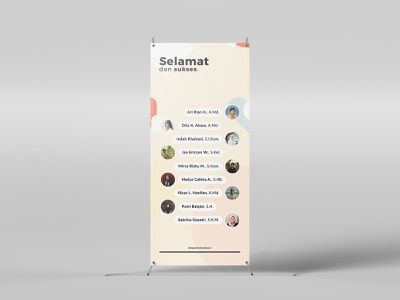 Stand Banner Wisuda - Best Banner Design 2018