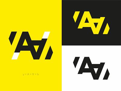 YAAB   Logo design flat vector minimal typography design logo