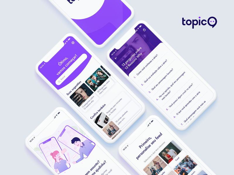 Mobile App UI - TopicO xd adobe xd ux app design design apple app mobile ux design ui design tags